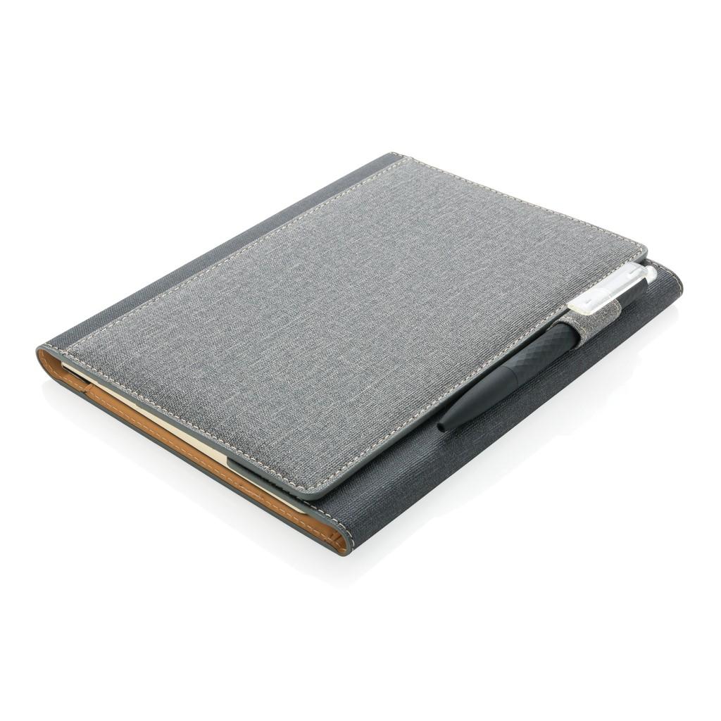 A5 Deluxe design notitieboek omslag, grijs