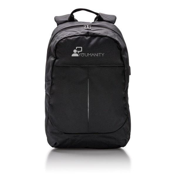 Power USB laptop rugzak, zwart, View 14