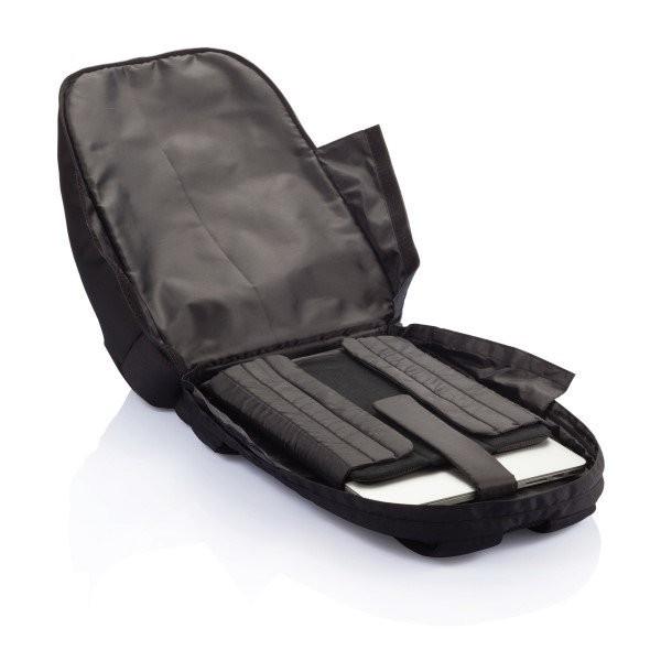 PVC vrije universele laptop rugtas, zwart, View 10