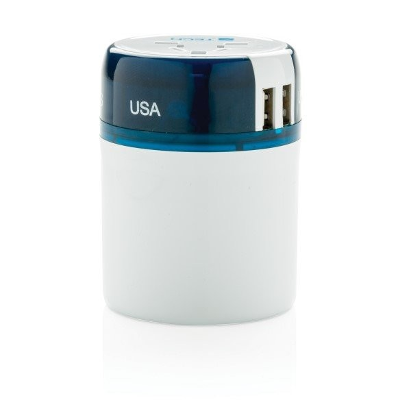 Travel Blue world travel adapter USB , wit, View 3