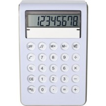 Kunststof calculator, 8 digits - wit