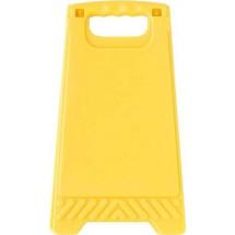Kunststof waarschuwingsbord met spiegel - geel