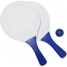 Houten beachballset, klein - blauw