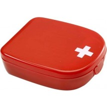 EHBO setje in cassette 'Pocket' - rood