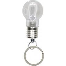 Sleutelhanger met lamp - zilver