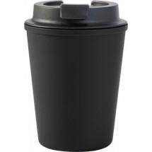 Kunststof reis mok (350 ml) - zwart