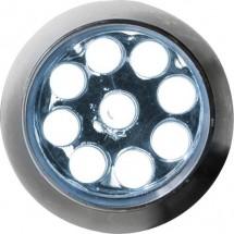 Aluminium zaklamp met 9 LED 'Master' - zilver