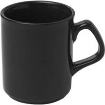 Porseleinen mok (0,25 liter) 'Basic' - zwart