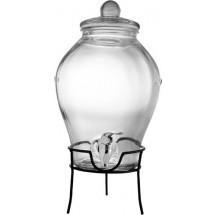 Glazen drankdispenser met onderzetter 'XXL' - transparant