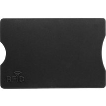 Kunststof kaarthouder met RFID bescherming - zwart