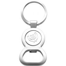 Sleutelhanger met opener en Euromunt 'Match' - zilver