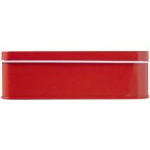 Metalen EHBO blik, 15-delig - rood