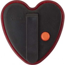 Plastic veiligheids lampje, model 'hart' 'Heart' - rood