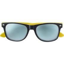 Kunststof zonnebril (UV-400), zwarte pootjes - geel