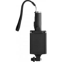 Kunststof telescopische selfie stick met drukknop - zwart