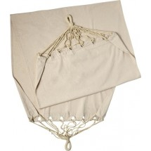 Polyester canvas hangmat, in pouch - kaki