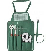 Voetbal BBQ set 'Goal' - groen