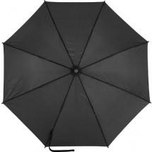 190T polyester automatische paraplu - zwart