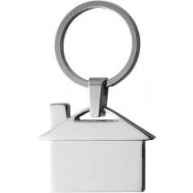 Sleutelhanger 'Villa' - zilver