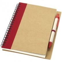Priestly notitieboek met pen - rood