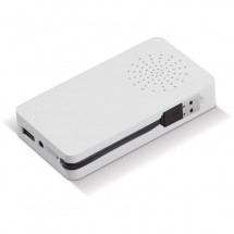 Powerbank/Speaker Zuignap - wit