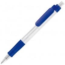 Balpen Vegetal Pen Clear - frosted donker blauw