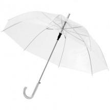 """23"""" Transparante automatische paraplu - wit"""