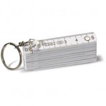 Sleutelhanger Mini Duimstok - wit