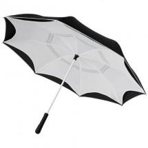 """Yoon 23"""" binnenstebuiten gekeerde rechte paraplu met frisse kleuren - Wit"""