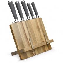 Kookboekstandaard inclusief messen - Hout