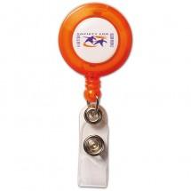 Kaarthouder - transparant oranje
