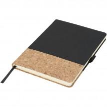 Evora A5 kurk en thermo PU notitieboek - Zwart