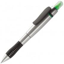 Highlighter- en Balpen - zilver / groen