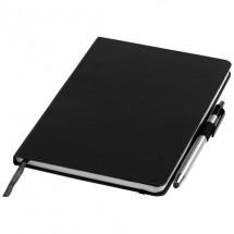 Crown A5 notitieboek met stylus balpen - zwart