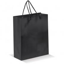 Papieren tas middel - zwart