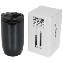 Lagom 380 ml koper vacuüm geïsoleerde drinkbeker - Zwart