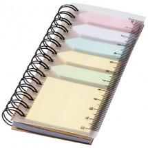Spiral boekje met sticky notes - off white