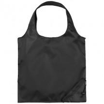 Bungalow opvouwbare polyester boodschappentas - zwart