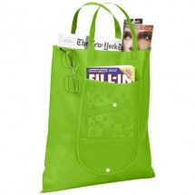 Maple opvouwbare non woven tas - Lime