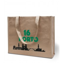 "Papier / Non-Woven tas ""Porto"" - zand"