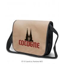 """Papier / Non-Woven tas """"Cologne"""" - zand/zwart"""