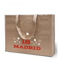 """Papier / Non-Woven tas """"Madrid"""" - zand"""