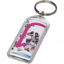 Stein heropenbare sleutelhanger met metalen clip - Transparant
