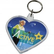 Combo hartvormige sleutelhanger - Transparant
