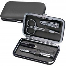 Manicure-set in PU Etui Avola-antraciet