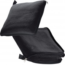 2 in  1 fleece deken/ kussen Radcliff-zwart