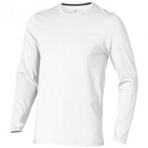 Ponoka heren t-shirt met lange mouwen - Wit