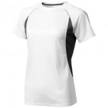 Quebec dames t-shirt met korte mouwen - Wit,antraciet