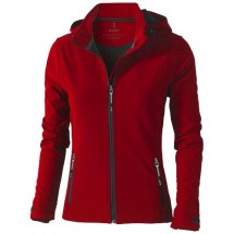 Langley dames softshell jack - Rood