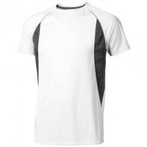 Quebec heren t-shirt met korte mouwen - Wit,antraciet
